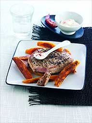 Peppered Tuna Steaks