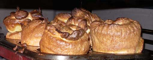 Yorkshire Puddings in the oven