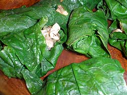 Stuffed Spinach Leaves