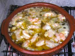 Chilli Garlic Prawns - Gambas al pil-pil