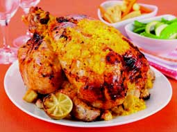 Mango, Lime and Ginger Roast Chicken