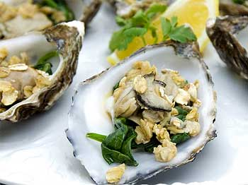 Oysters in Oatmeal