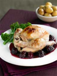 Poussin with Spiced Berry Sauce