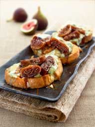 Sticky Figs and Stilton Crostini