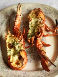 Lobster with garlic and butter