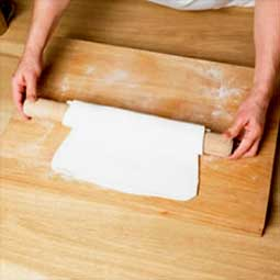 Working with puff pastry