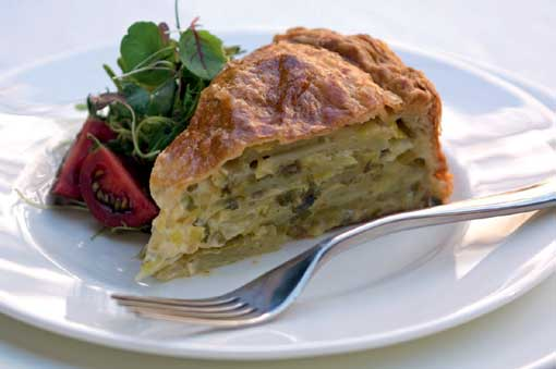 Rooster Potato and Leek Pie