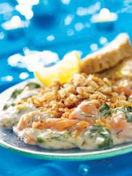 Mitch Tonks' Smoked Salmon and Spinach Gratin