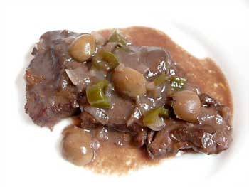 Spanish Beef with Green Olives