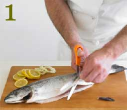 How to cook salmon Step 1