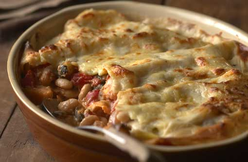 Roasted Vegetables and Bean Lasagne