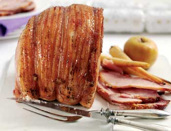 Cider Roasted Gammon with Calvados and Apples