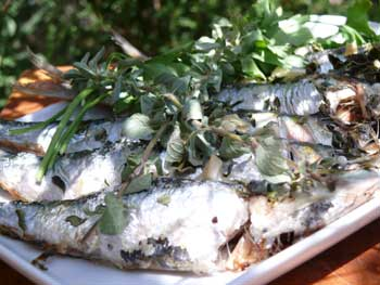 Baked Sardines with Garlic and Oregano