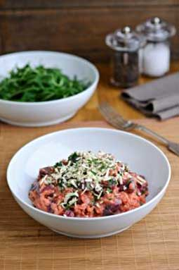 Diana Henry's Beetroot Risotto with Lancashire Cheese
