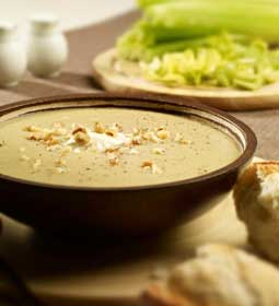 Celery Soup with Walnuts and Crème Fraîche