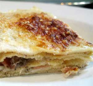 Radicchio and Bechamel Crepes