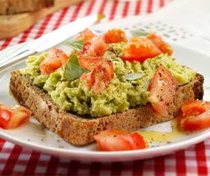 Simple Avocado on Toast Breakfast
