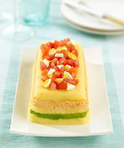 Avocado Fresh Crab and Potato Terrine
