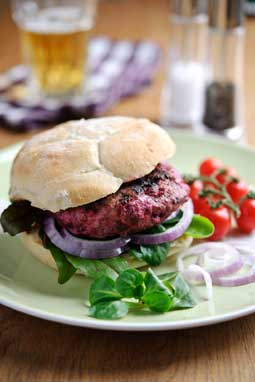 Lamb and Sweetfire® Beetroot Burgers with Feta