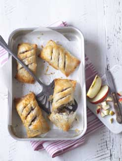 Apple and Sausage Filo Rolls