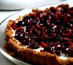 White Chocolate and Cherry Tarts