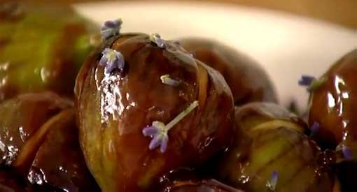 Figs Caramelized with Lavender Honey
