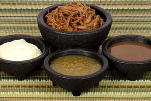 Shredded Mexican Beef and Salsas