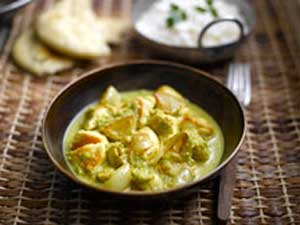 Manju Mahli's South Indian Style Chicken Curry with Shallots