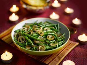 Manju Mahli's Green Beans with Shallots and Fragrant Cumin Seeds