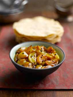 Manju Mahli's Hot and Sweet Shallot Pickle with Mustard Seeds
