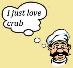 I just love crab