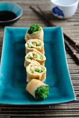 Tenderstem Broccoli Omelette Sushi Roll