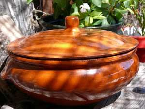 Spanish terracotta casserole