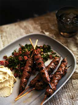 Kafta - Minced Lamb, Parsely and Onion Skewers
