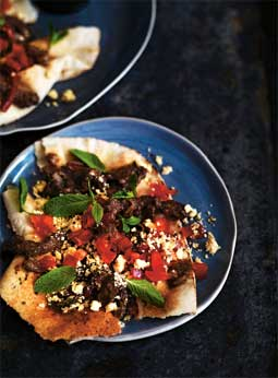 Shawarma & Shanklish - Spice Beef Strips with aged Yoghurt Cheese