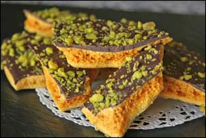 Chocolate and Pistachio Honeycomb